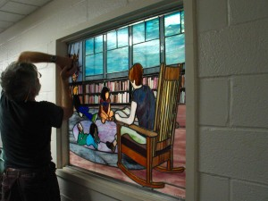 Library Window, Essex Elementary Scool